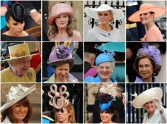 Royal Wedding: Hats  From top left: Victoria Beckham; Princess Letizia; Charlene Wittstock, the fiancee of Prince Albert II of Monaco; Crown Princess Victoria of Sweden; Queen Elizabeth; Anne, the Princess Royal; Queen Margrethe of Denmark; Queen Sofia of Spain; Carole Middleton, mother of the bride; Princess Beatrice; Princess Eugenie; and Camilla, the Duchess of Cornwall.