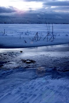 Utah Lake in winter - photo by Adrien Mooney   # Pin++ for Pinterest #