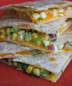 Healthy and Gourmet: Sweet Corn Quesadillas