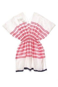If you can sew, this easy breezy caftan makes a great beach coverup or summer shirt.