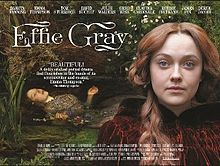 MOVIE | Effie Gray (2014), a film produced by Emma Thompson with Dakota Fanning as Effie, Tom Sturridge as Millais and Greg Wise as Ruskin.