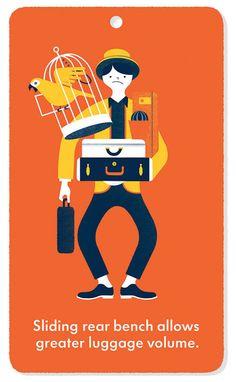 Ella Cohen www.folioart.co.uk/illustration/folio/artists/illustrator/ella-cohen  #illustration #vw #volkswagen