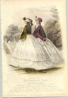 1861 - deux spencers sur jupes blanches