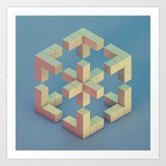 Impossible Geometry Art Print by Michiel van den Berg - $18.00