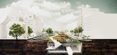 Design for the Hoogstraat, Rotterdam, by Steven Delva. Prix de Rome 2014