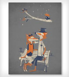 #hearthandmade Nighttime Nuzzle - Poster | Art Prints | Fuzzy Ink | Scoutmob Shoppe | Product Detail