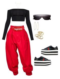 Untitled #3381 by mollface on Polyvore featuring moda, Yves Saint Laurent, Gucci, Social Anarchy, Kendra Scott, Charlotte Russe and Louis Vuitton