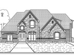 Eplans Tudor House Plan - Five Bedroom Tudor - 4409 Square Feet and 5 Bedrooms from Eplans - House Plan Code HWEPL63970
