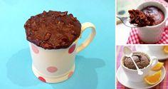 Superrýchly hrnčekový koláč z mikrovlnky. Hotový za 5 minút. Microwave, Food And Drink, Pudding, Mugs, Cake, Desserts, Recipes, Mascarpone, Pie Cake