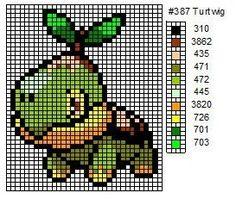 Crochet Fanatic: Pokemon 387-400: Turtwig, Grotle, Torterra, Chimchar, Monferno, Infernape, Piplup, Prinplup, Empoleon, Starly, Staravia, St...