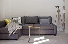 Friheten Corner Sofa-Bed Cover (Snug Fit) 2019 IKEA Friheten Sofa bed in Skiftebo Dark Gray in a Minimalist Loft by AnneLiWest Mini Loft, Ikea Living Room, Living Room Grey, Friheten Sofa Bed, Ikea Sofa Bed, Ikea Corner Sofa Bed, House Beds, Pallet Furniture, Family Room