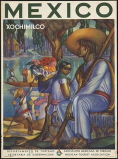 Items similar to Mexico Travel Poster Xochimilco - Wall Art - Vintage Travel Art Poster - Mexican Art - Colorful Poster - Retro Mexico - Southwest Decor on Etsy Retro Poster, Poster Vintage, Vintage Travel Posters, Vintage Ads, A4 Poster, Poster Prints, Art Prints, Poster Wall, Life Poster