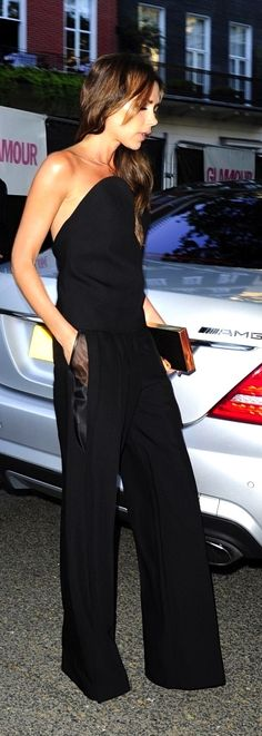 Victoria Beckham perfect jumpsuit!  You'd have to be 90lbs to pull it off and I have no idea what is holding it up, but it's gorgeous.