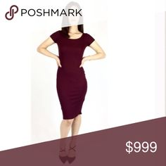 Coming soon!  Basic Tee Dress in Burgundy Made from Atid's renowned ribbed 88% Tencel and 12% Spandex, this dress is as soft and comfortable as your favorite tee. But this dress is anything but basic. Beautiful burgundy color, & ribbed material hugs your figure and allows you to dress is up or go casual. Either way, you are gorgeous and comfortable! Atid Clothing Dresses Midi