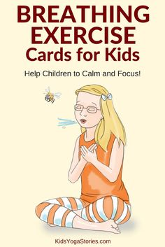 40 Breathing Exercise Cards for Kids: Don't forget to breath! Help children to calm down and focus! Practice any one of these forty breathing techniques to release stress and tension. Help your children feel calm and focused with breathing exercises like Mindfulness For Kids, Mindfulness Activities, Meditation Kids, Mindfulness Meditation, Preschool Yoga, Toddler Yoga, Yoga Position, Card Workout, Childrens Yoga
