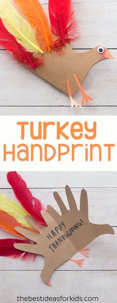 This turkey handprint craft and poem is so cute for Thanksgiving! Turkey crafts for kids, preschoolers, kindergarten. ~Hand turkey ~ Turkey crafts ~ Thanksgiving crafts for preschoolers ~ Hand turkey craft ~ Handprint Turkey ~ Thanksgiving crafts for kids via @bestideaskids