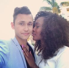 #naturalhair I love everything about this picture...interracial couples are bomb!