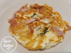 frittate, ricette del riciclo /  albumi e mortadella frittata ricetta, frittata albumi mortadella, frittata all'albume d'uovo, mortadella e bianco d'uovo ricetta semplice, ricette frittate
