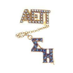 Alpha Epsilon Pi Sigma Eta Chapter Pin Sapphire Seed Pearls