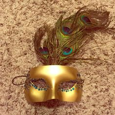 Masquerade mask peacock inspired mask, made by me :) marked as ASOS for exposure ASOS Accessories Hats