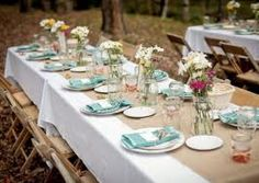 barn wedding table decorations - Google Search