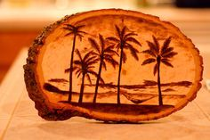 My wood burning of a beach scene. Like my Facebook Page My Website My Etsy Shop Pyrography Gallery
