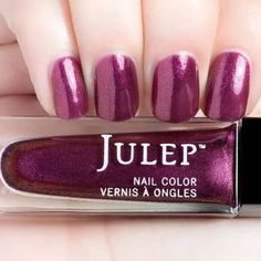 Julep BELLE Nail Color Treat Polish Plum Punch Sheer Iridescent Shimmer BNIB #Julep