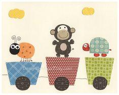 Bebé vivero arte conjunto de 3 imprime safari del por DesignByMaya