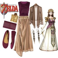 Zelda, Princess of Hyrule - more like twilight princess instead of Link to the past but eh, I'll take it.>I don't even play Legend of Zelda, and I'll take it! Fandom Fashion, Geek Fashion, Disney Fashion, Casual Cosplay, Cosplay Outfits, Estilo Disney, Le Polo, Character Inspired Outfits, Geek Home Decor