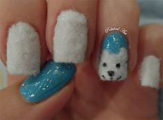 Bear Nail Art Designs | Easy Polar Bear Nail Art Designs & Ideas 2013/ 2014 For Beginners ...