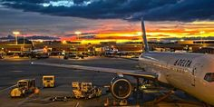 Delta at sunrise Delta Flight, Alaska Airlines, Civil Aviation, Aviation Art, Aviation Industry, Airplane Travel, Salt Lake City Utah, Commercial Aircraft, Air Travel