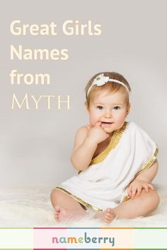 Mythological baby names for girls, because ancient baby names like Echo and Luna are fresh and modern today.