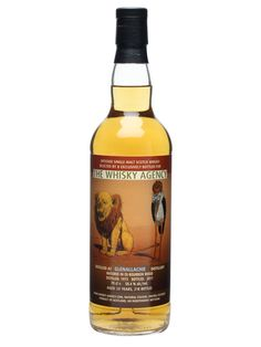 Glenallachie 1973 / 38 Year Old / The Whisky Agency : Buy Online - The Whisky Exchange - A 38 year old whisky from Glenallachie, distilled in 1973 and bottled in 2011 by The Whisky Agency. This bottle depicts a lion with a rather poorly trimmed mane and a heron making use of the cuttin...