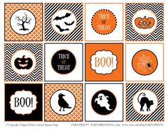 free halloween printables at catchmyparty.com/printables#Halloween