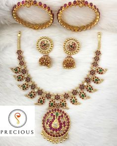 Shop Mind Blowing South Indian Style Imitation Jewellery Designs Online Here South Indian Bridal Jewellery, Indian Jewellery Design, Indian Jewelry, Bridal Jewelry, Jewelry Design, Indian Style, Collar Necklace, Beaded Necklace, Gold Necklace
