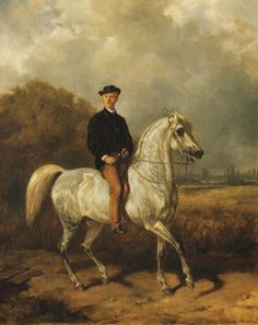 Portrait of a Man on Horseback - Juliusz Kossak