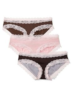 Pack of 3 Iris /& Lilly Womens Graphic Floral Lace Hipster