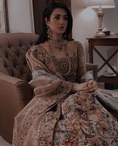 Pakistani Party Wear Dresses, Asian Bridal Dresses, Indian Bridal Outfits, Wedding Dresses For Girls, Pakistani Dress Design, Pakistani Outfits, Indian Dresses, Nikkah Dress, Lehenga