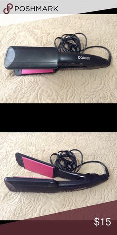 Hair Straightener Black Conair Hair Straightener that's still in good condition. Has power and turbo on/off buttons and heat max is up to 25 :) Conair Other