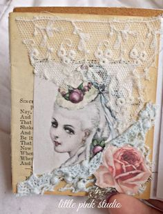 page in my little love note altered book