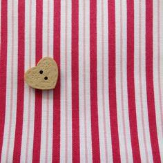 Pretty Tilda Fabric  RED STRIPE  A 'Small' di PrettyFabricandTrims, $4.25