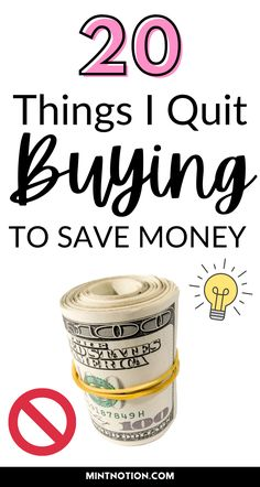Things I quit buying to save money. I stopped buying these things to save money. I am becoming a minimalist and stopped wasting my money on these items. Things I no longer buy.
