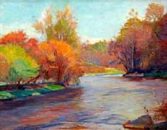 Stanley M. Arthurs (1877-1950) ~ Autumnal River Landscape