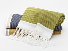 Anthology Magazine | Textiles | Bath Necessity: Woven Hand Towels by Harabu House