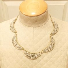 HP Half Moon Necklace Worn once, like new. Adjustable lengths (as pictured). TRADE Anthropologie Jewelry Necklaces