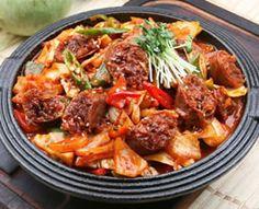 Korean Food | Soondae Bokum | Spicy Pork Sausage Stirfry