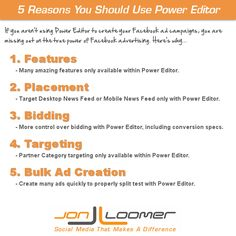 5 Reasons You Should Use Power Editor to Create Facebook Ads