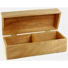 Double-File Wooden Recipe Box