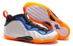 """low priced e7891 36fb7 Find Nike Air Foamposite One """"Knicks Home"""" White Bright Orange-Royal Blue  Super Deals online or in Pumaslides. Shop Top Brands and the latest styles  Nike ..."""