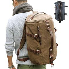 Large capacity man travel bag mountaineering backpack men bags canvas bucket shoulder bag YS-314